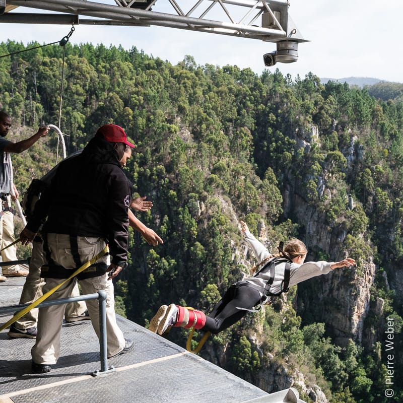 Bungy jumping at Bloukrans bridge!
