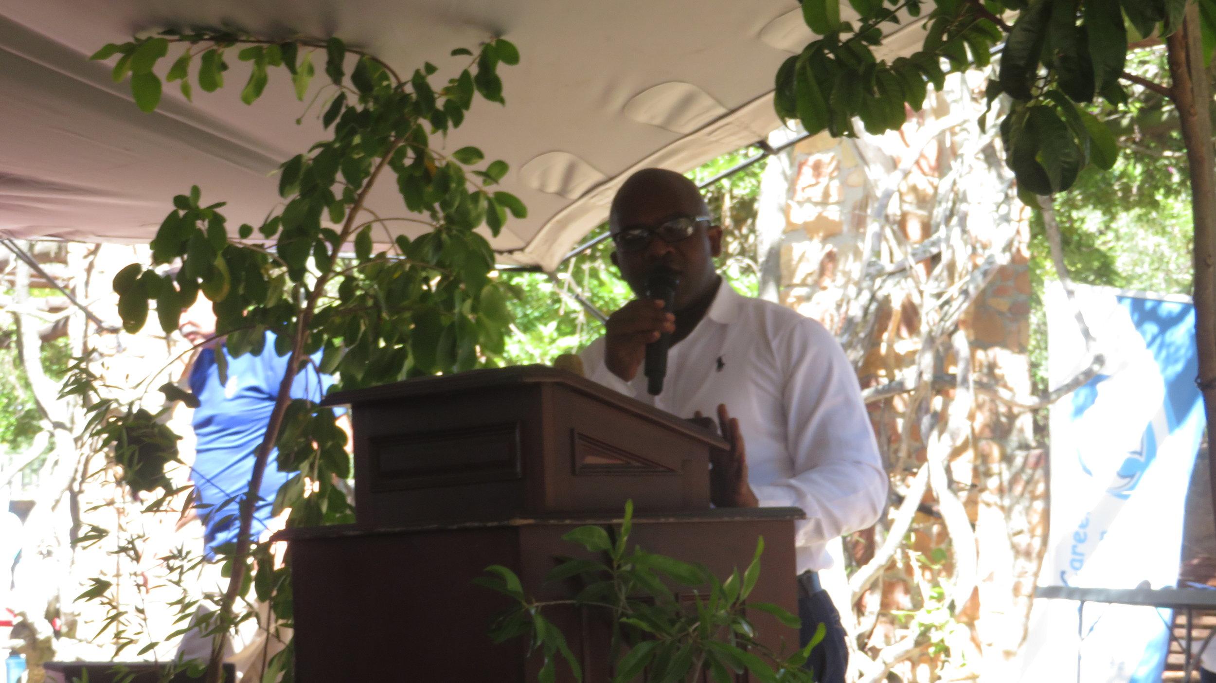 Deputy Mayor of Stellenbosch opening the Water Wise Festival