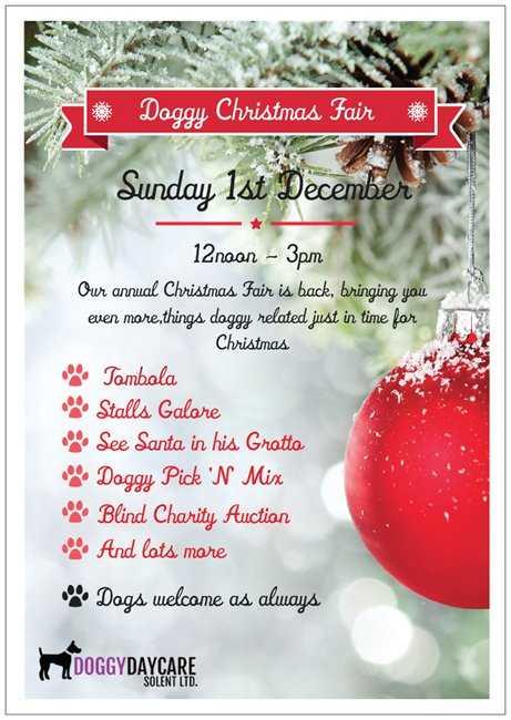 Christmas Fair - Doggy Daycare Solent
