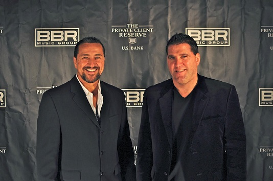 Tom Petrone (left) and Dan Marshall (right) attending the BBR Music Group event in 2009