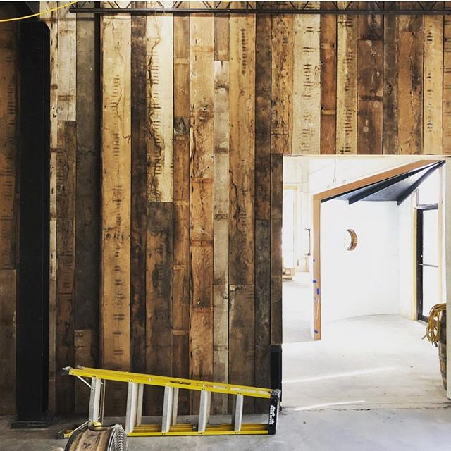 Flashback Friday!  A year ago today, we finished installing this barn wood wall in the Old Herald Brewery and Distillery! Still loving the result. #flashbackfriday #barnwoodwall #barnwooddecor #reclaimedwood #salvagedwood #weekendvibes
