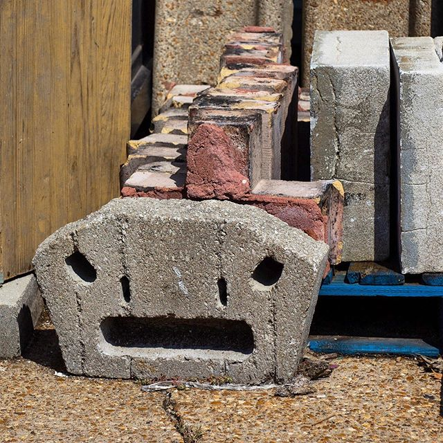 Can't unsee the dinosaur; discovered in our outdoor building materials section.  Do you see it? #facesinthings #findoftheday #bitsofbuildings #iseefaces #dinosaur