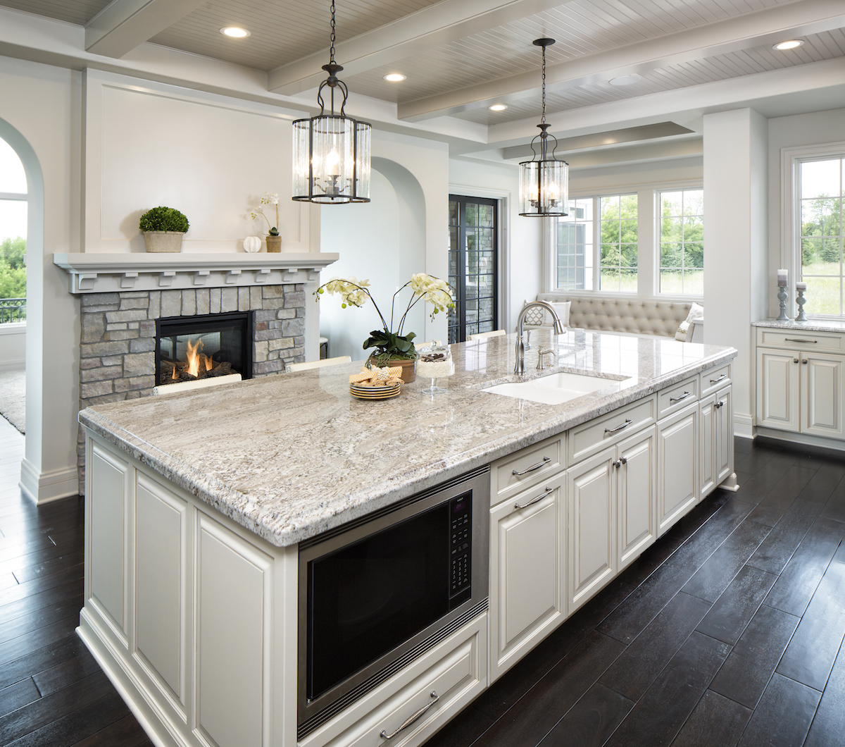 GRANITE - Granite is by far the most common rock found in the outer crust of the planet. Granite is formed by the cooling of magma in the ground.Granite is an excellent choice for your new countertops. From simple colors to incredible super exotics, granite is a natural choice for your tops.