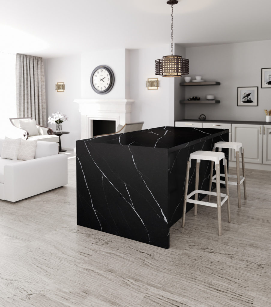 QUARTZ - Quartz is a man made living surface. It's relatively maintenance free requiring no after installation sealing. The colouring is consistent and comes in a variety of colours typically not found in nature.You will often see quartz in commercial applications or contemporary designs due to their monochromatic understated appearance.