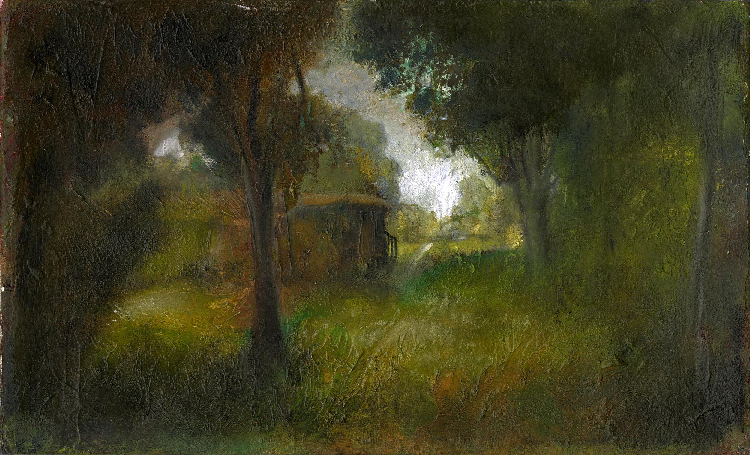 Hidden  Oil on canvas. #A50