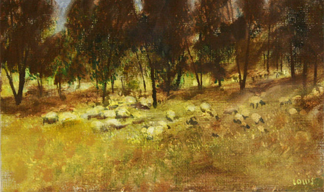 Sheep  Oil on canvas. #A57