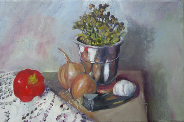 Vegetables  Oil on canvas. #A91