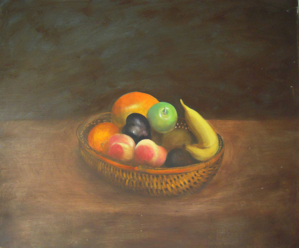 Fruits  Oil on canvas. #A93