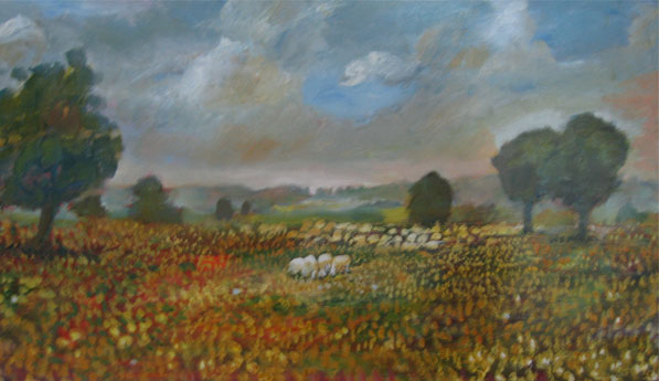 On The Mountain  Oil on canvas. #A66