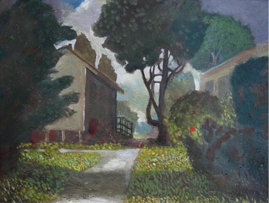 Sidewalks  Oil on canvas. #A67