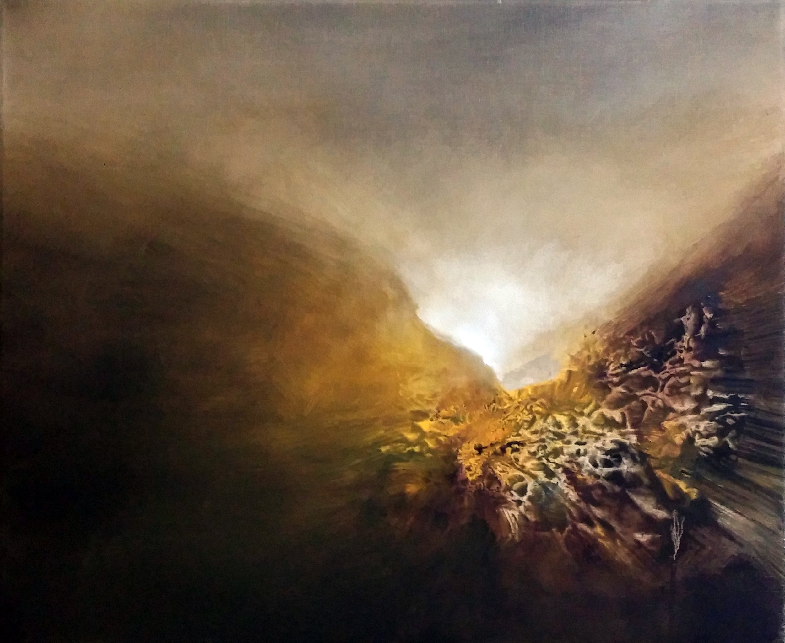 Erupting  Oil on canvas. #A75
