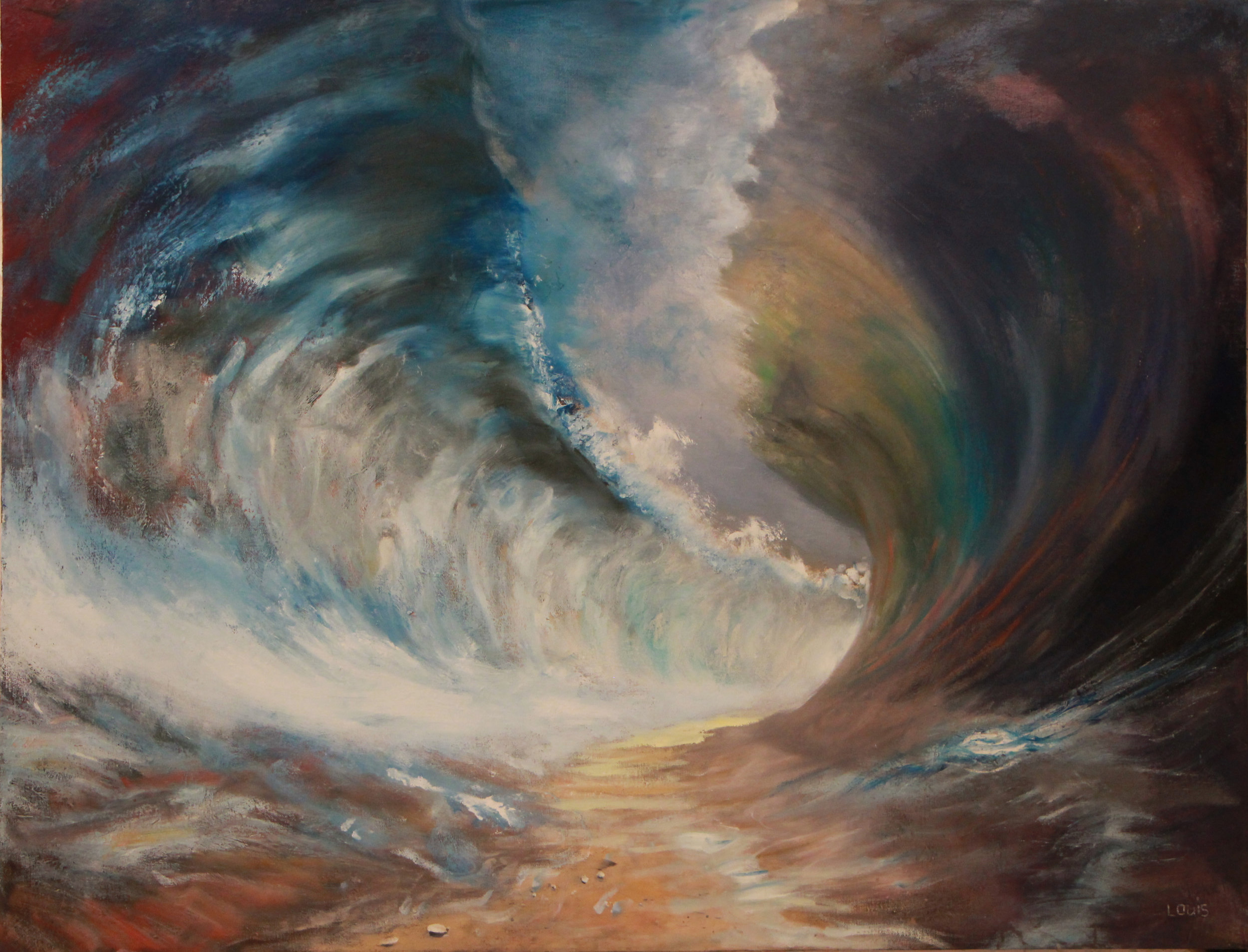 Warring Seas II  Oil on canvas. #A131
