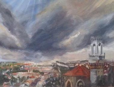 Jerusalem  110 x 90 cm, oil on canvas. #A15 - 2017