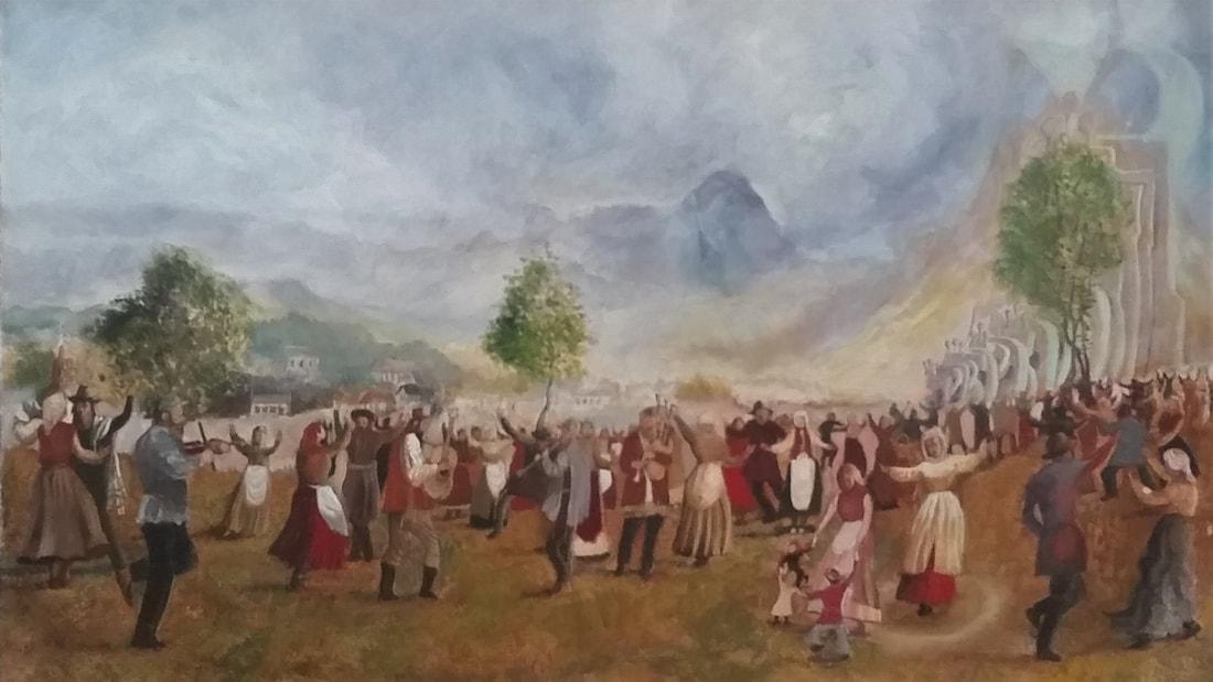 Harvest Festival  40 x 60 cm, oil on canvas. #A13 - 2017