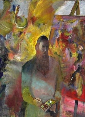 Self Portrait   40 x 30 cm, oil on Belgian linen. #A107 - 2016