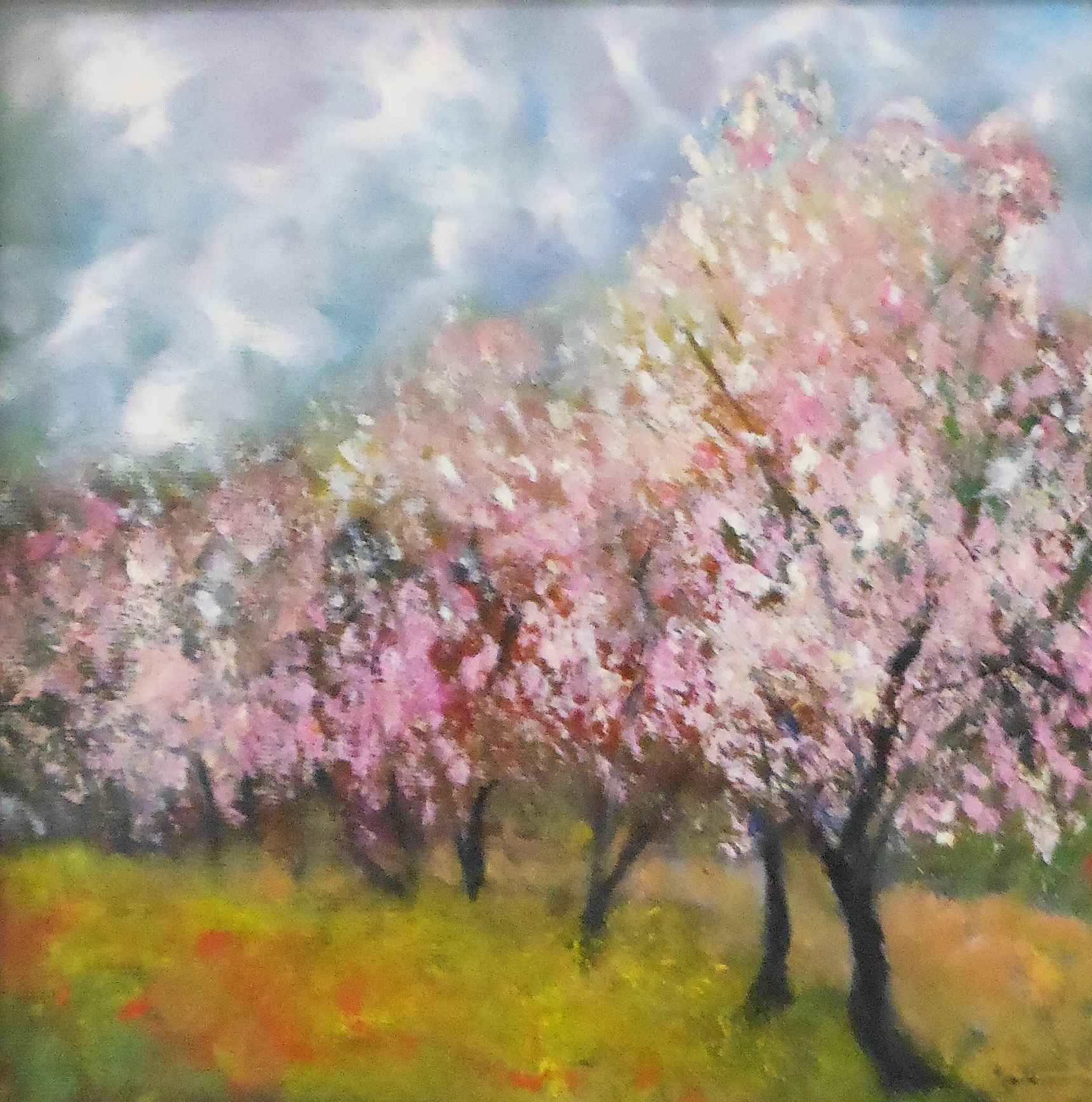 The Almond Tree II   34 x 34 cm, oil on canvas. #A46