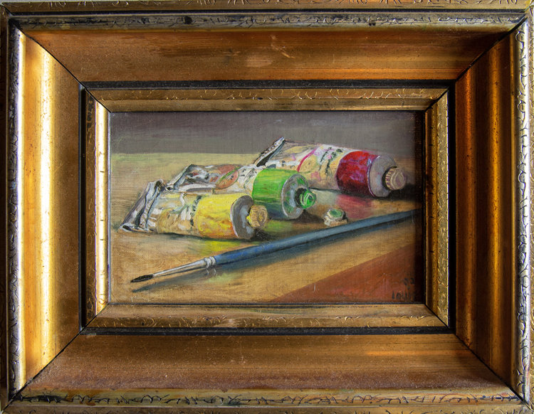 Paint Tubes   33 x 26 cm, oil on canvas. #A106