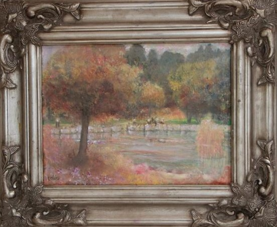 Rose Garden  40 x 30 cm, oil on canvas. #A31 - 2016