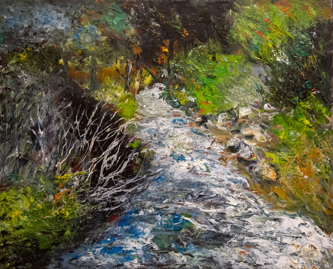 River     50 x 40 cm, oil on canvas. #A103 - 2018