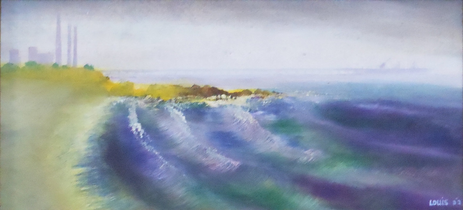 Blue Tide  Oil on canvas. #A37