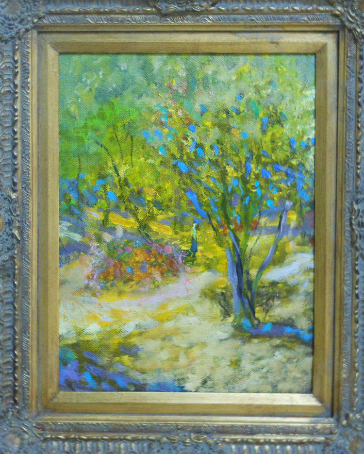 Forest Figures  Oil on canvas. #A55