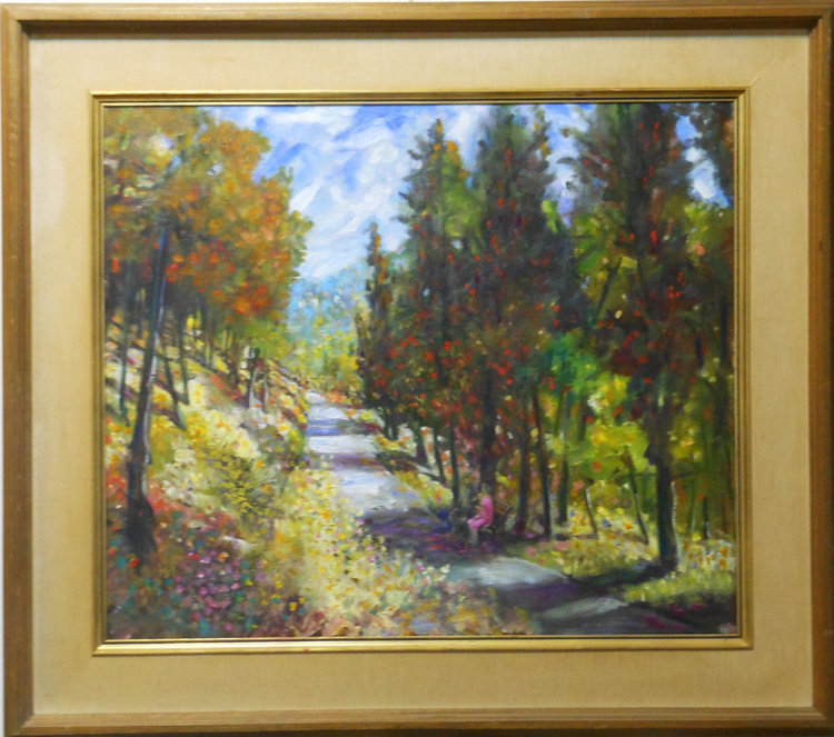 Fall Trees II  Oil on canvas. #A54