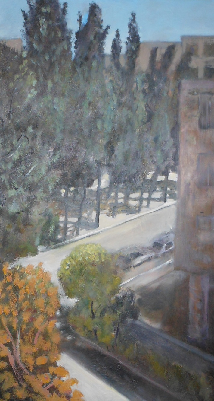 In The City  Oil on canvas. #A43