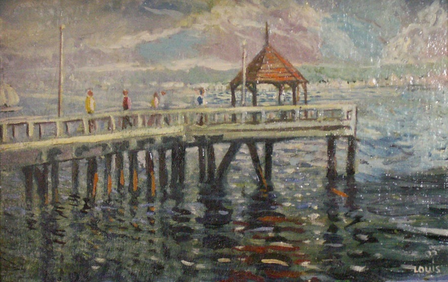 At The Pier  Oil on canvas. #A38
