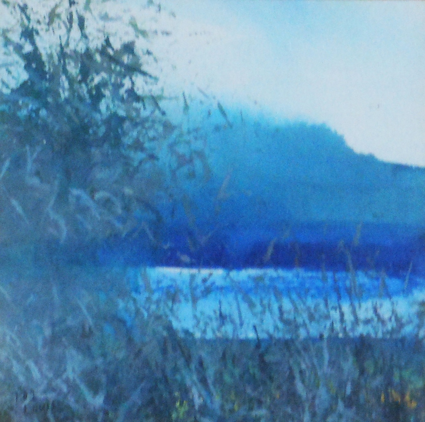 Scene in Blue  Oil on canvas. #A41