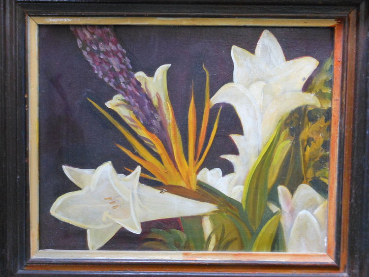 Lilies  Oil on canvas. #A101