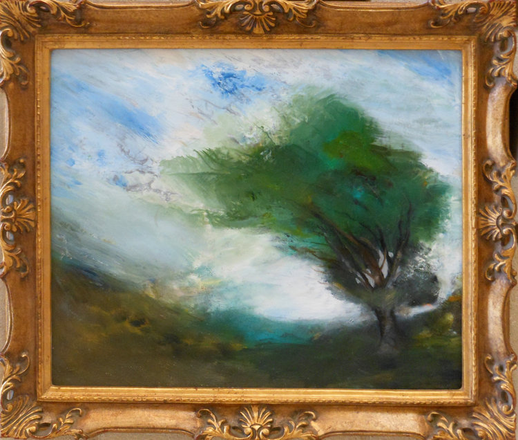 By The Wind  Oil on canvas. #A70