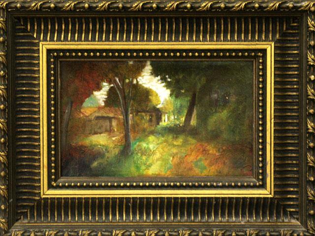 Golden House  Oil on canvas. #A64