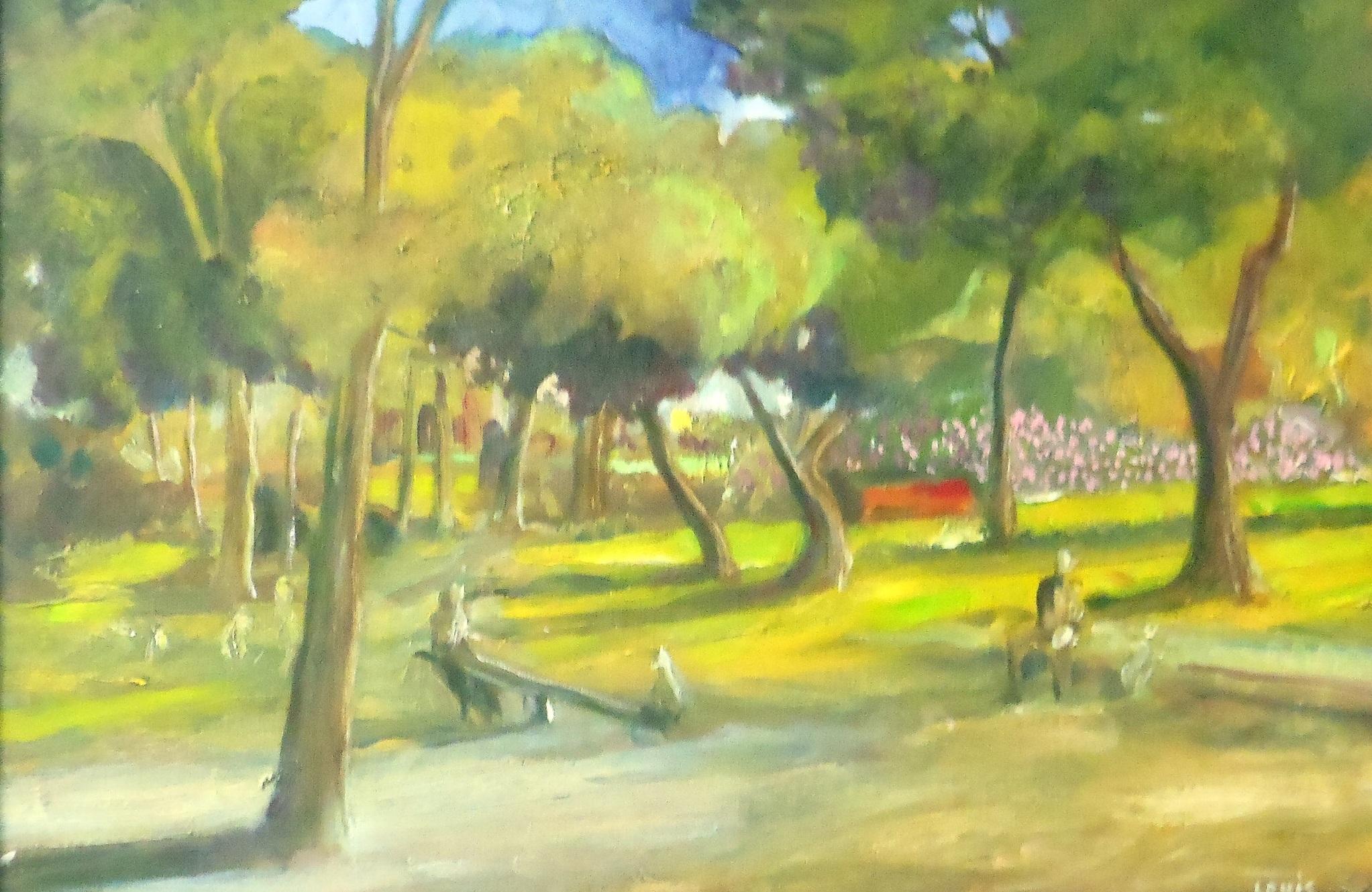 Idyllic Park  Oil on canvas. #A61