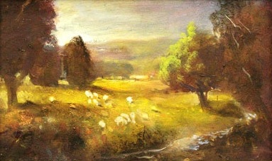Golden Sheep  Oil on canvas. #A80