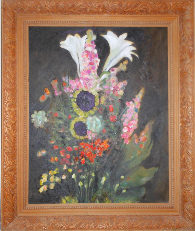 Bouquet  Oil on canvas. #A92