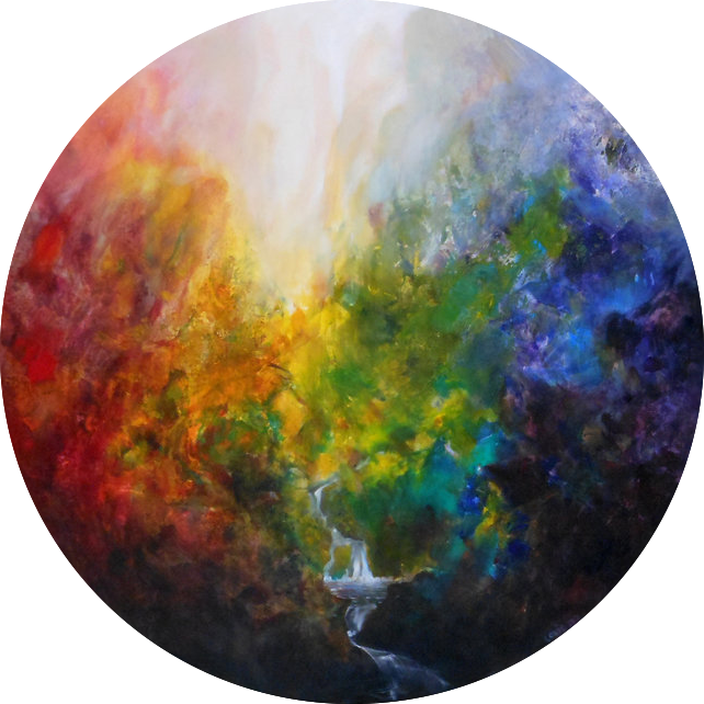 Ein Gedi  120 cm diameter, oil on canvas. #A121 - 2016