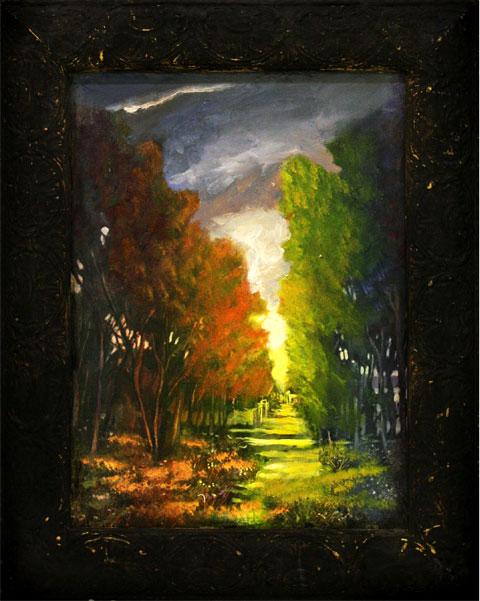 Autumn Trees  Oil on canvas. #A151