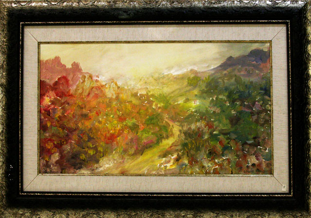 Warmth On The Mountain  Oil on canvas. #A152