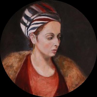 Havazelet  60 cm diameter, oil on canvas. #A19 - 2016