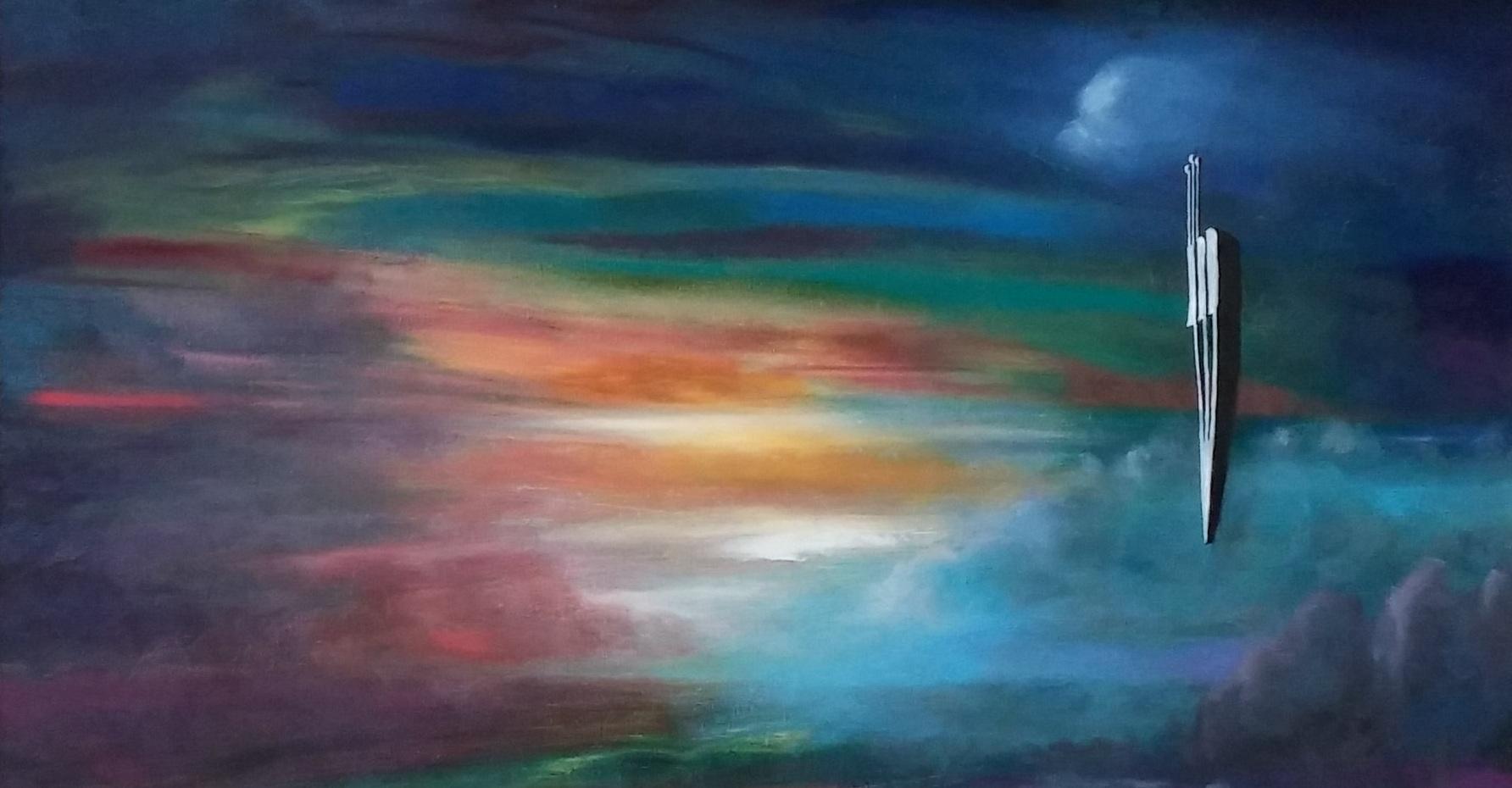Shin On The Horizon  Oil on canvas. #A166