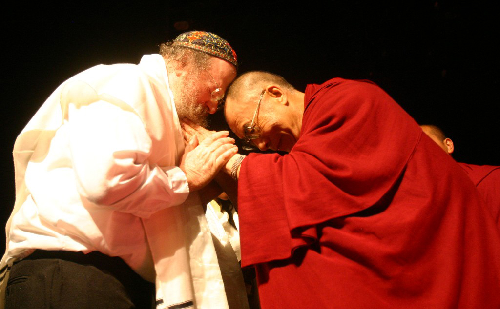 The Dalai Lama.  In 2014, Rabbi David Louis had the privilege of meeting, and performing for the Dalai Lama. Following the performance, Louis requested a blessing from the Dalai Lama, who acquiesced, and in return requested a blessing from Rabbi Louis.