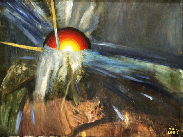 Tear In The Sky  Oil on canvas. #A148