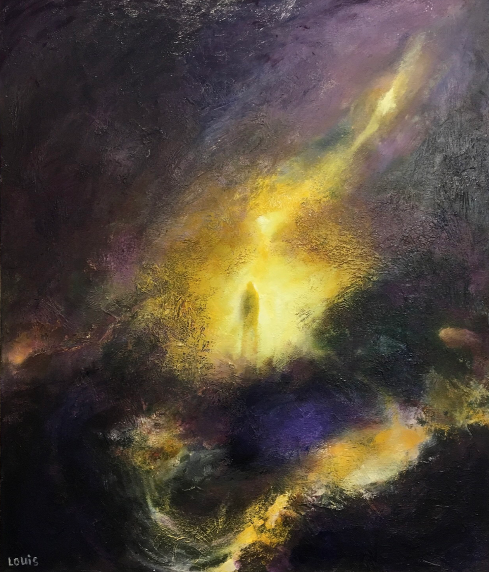 Revealed By Light  Oil on canvas.  #A195
