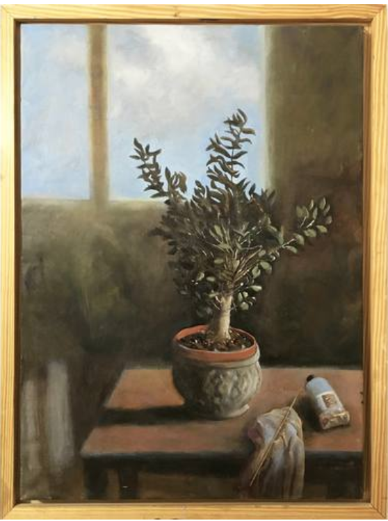 Plant By The Window  50 x 70 cm, oil on canvas. #A201