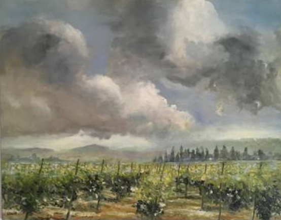 Cloudy Morning  127 x 76 cm, oil on canvas.  #A203