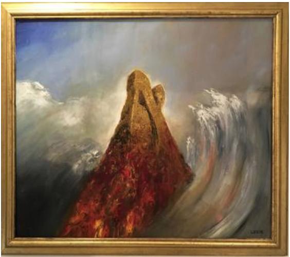 Aleph Mountain  120 x 100 cm, oil on canvas. #A205