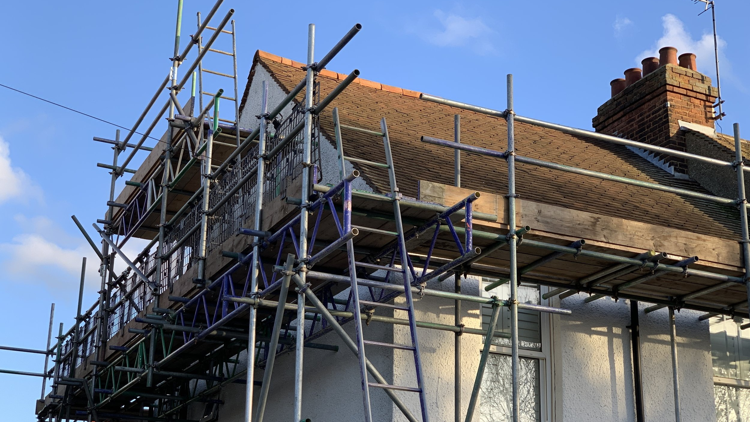 Domestic Scaffolding - We work with individual householders, local builders, maintenance companies and housing associations to cover all scaffolding and access requirements.
