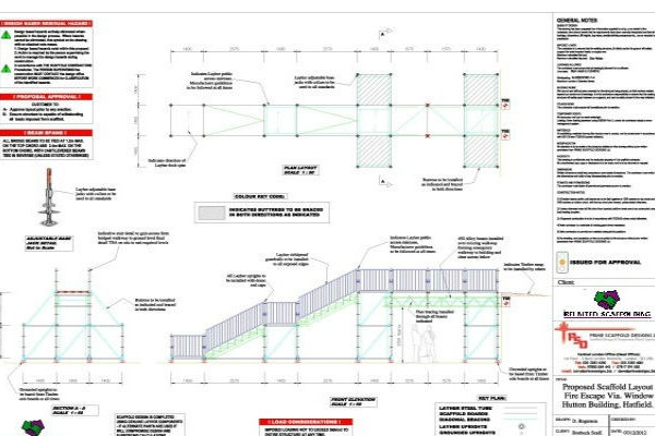 Scaffold Design - We provide bespoke engineers design services. Design drawings which include all the supporting calculations. a complete scaffolding design service in-house.