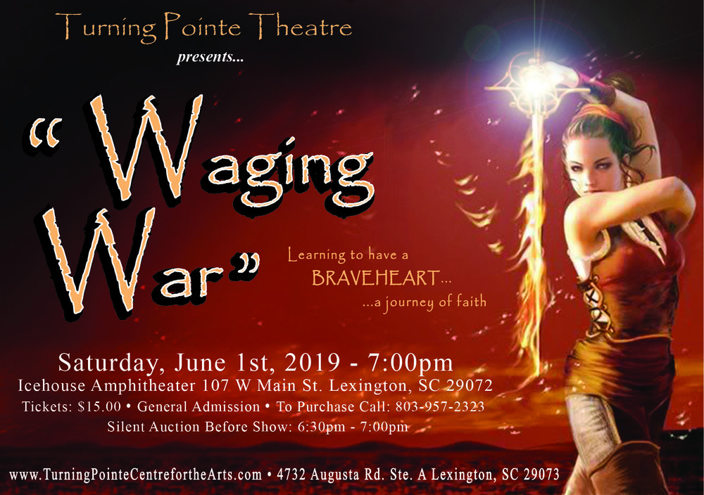 "*Side Note: I also do graphic design, and the above piece is  an oldie but goody. I have used this post card to advertise for the past 3 times ""Waging War"" has been show cased."