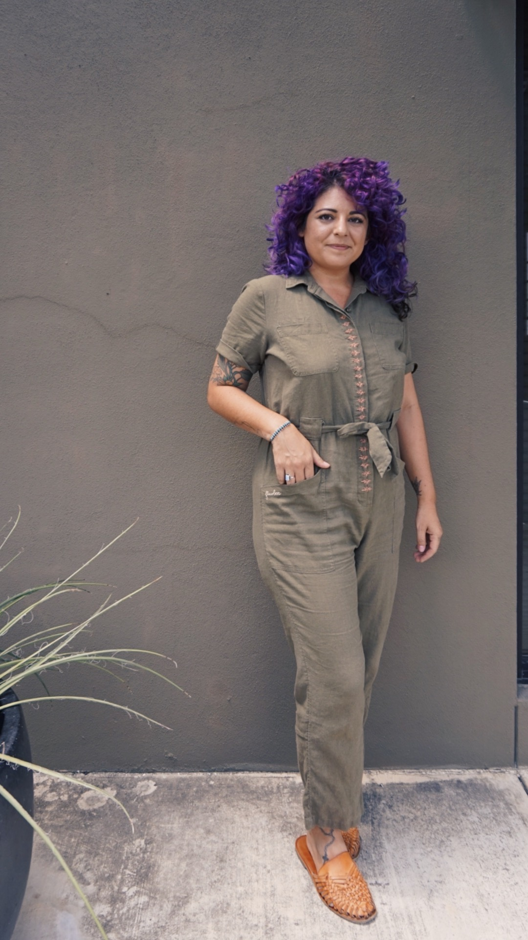 embroidered jumpsuit- embroidery tutorial